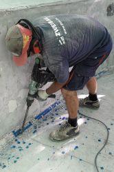Arbeiter Presslufthammer
