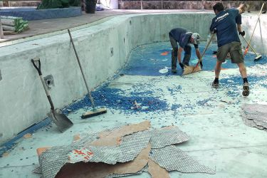 Pool Renovierung Abriss